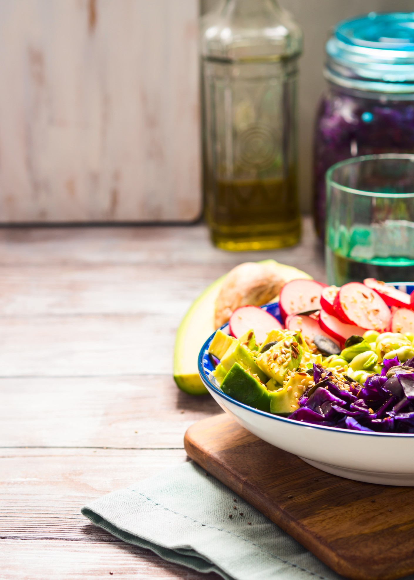 buddha-bowl-with-rainbow-colors-ingredients-avocado-fermented